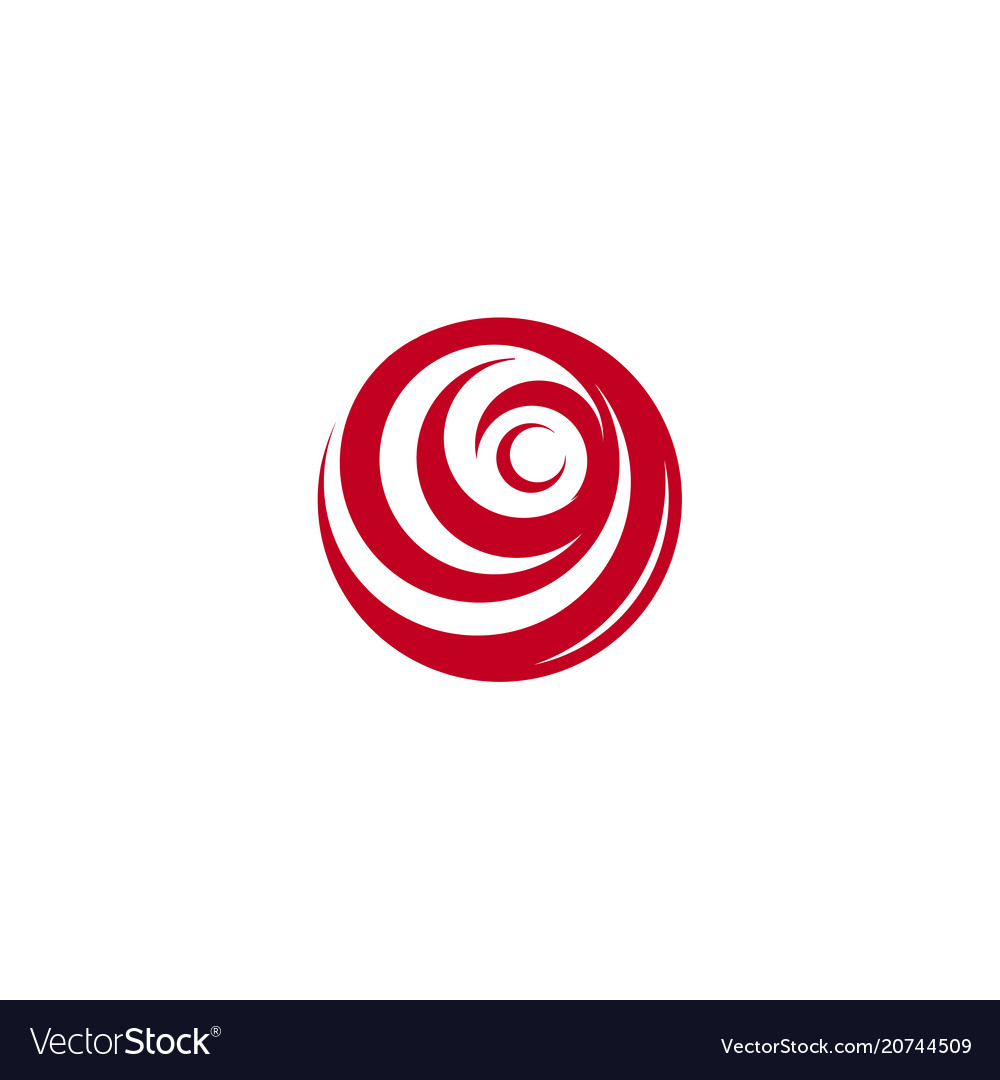 Red abstract rose logo template on white