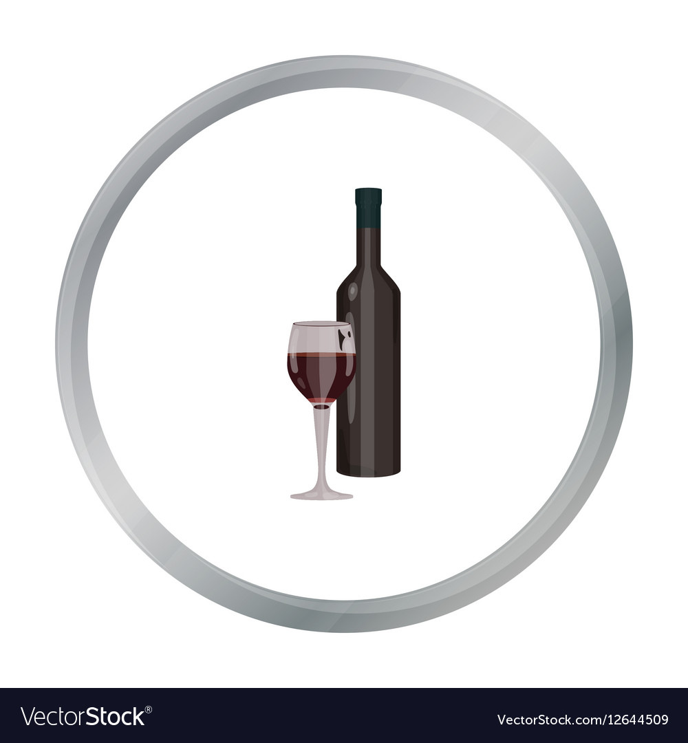 Red wine icon in cartoon style isolated on white