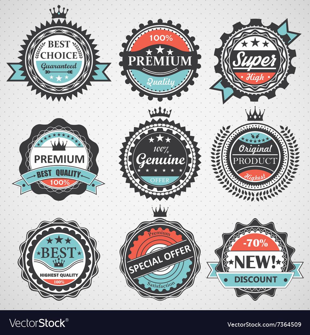 Set of premium quality guaranteed genuine badges