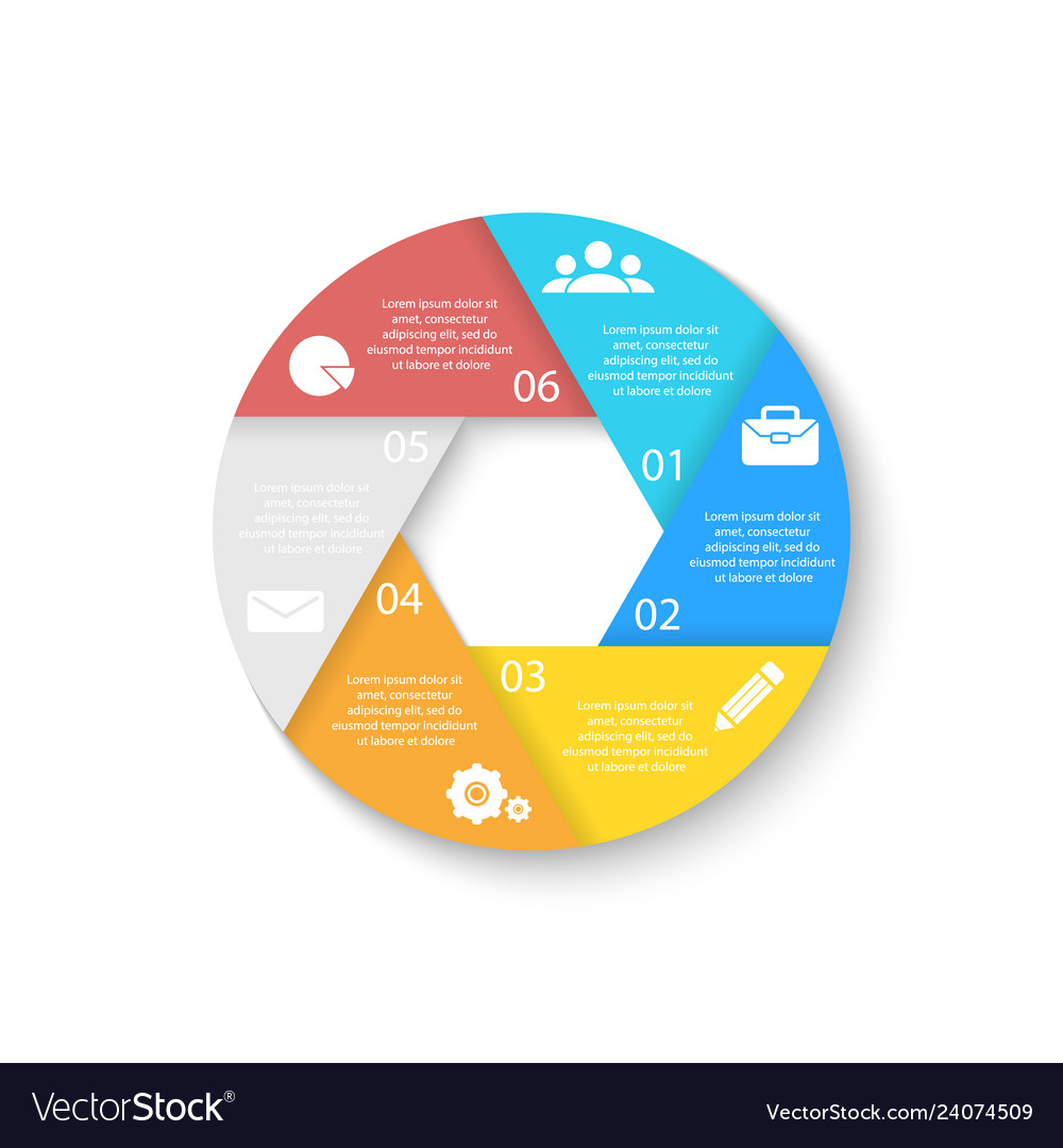 Template for circle diagram options web design