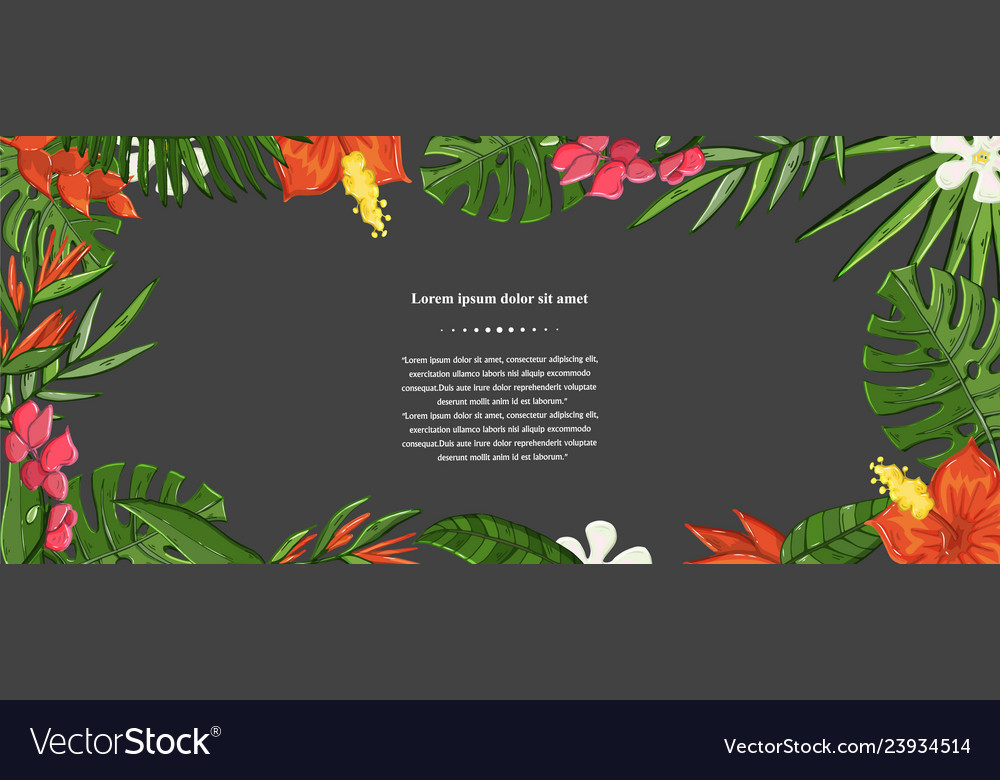 Exotic flower background on a darck jungle