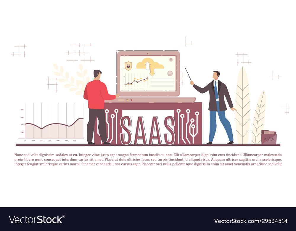 Man programming developing saas business system