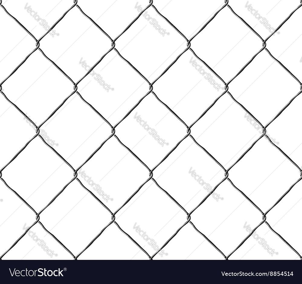 Seamless texture metal mesh steel fence vector image