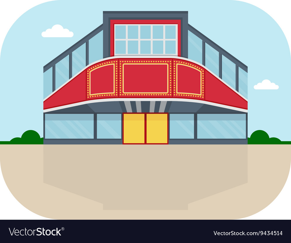 Shopping center cinema facade vector image