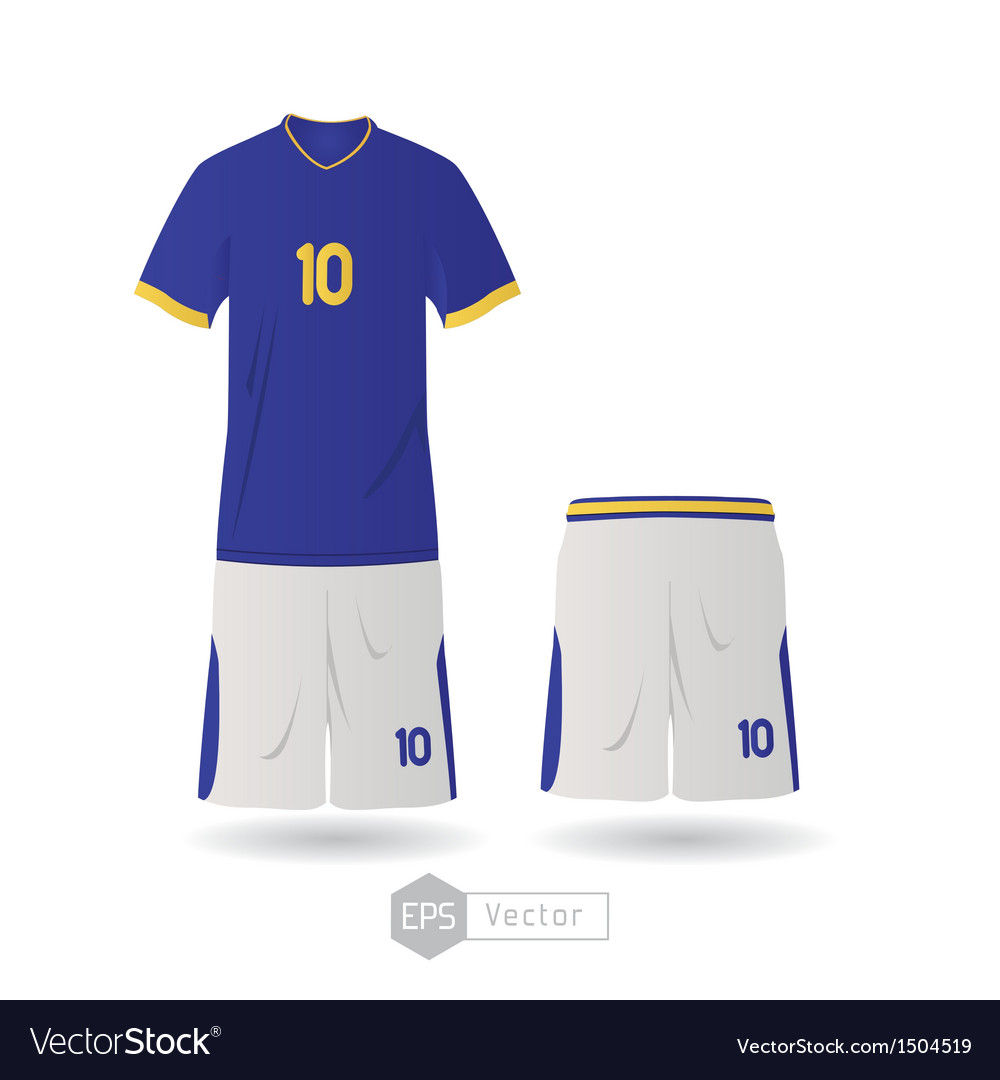 f269f8bb29c Brazil team uniform Royalty Free Vector Image - VectorStock
