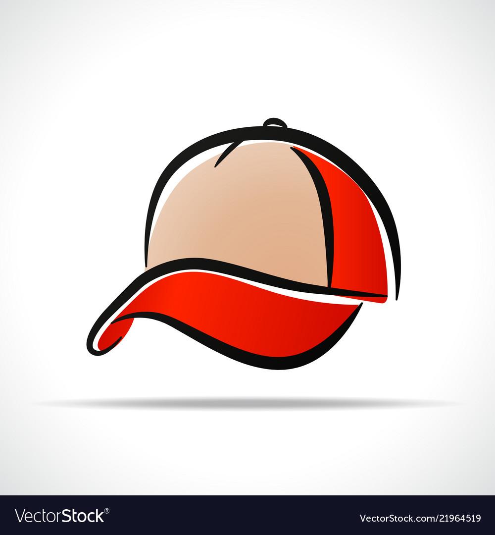 Cap design on white background