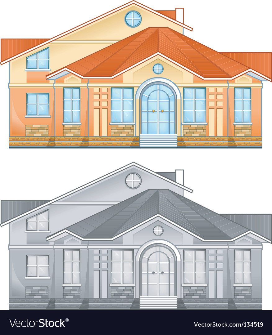 Country residence vector image