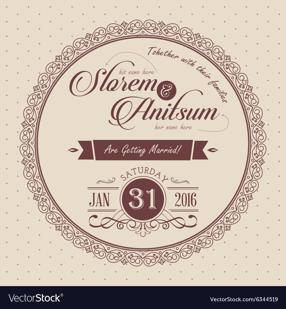 Elegant invitation card template