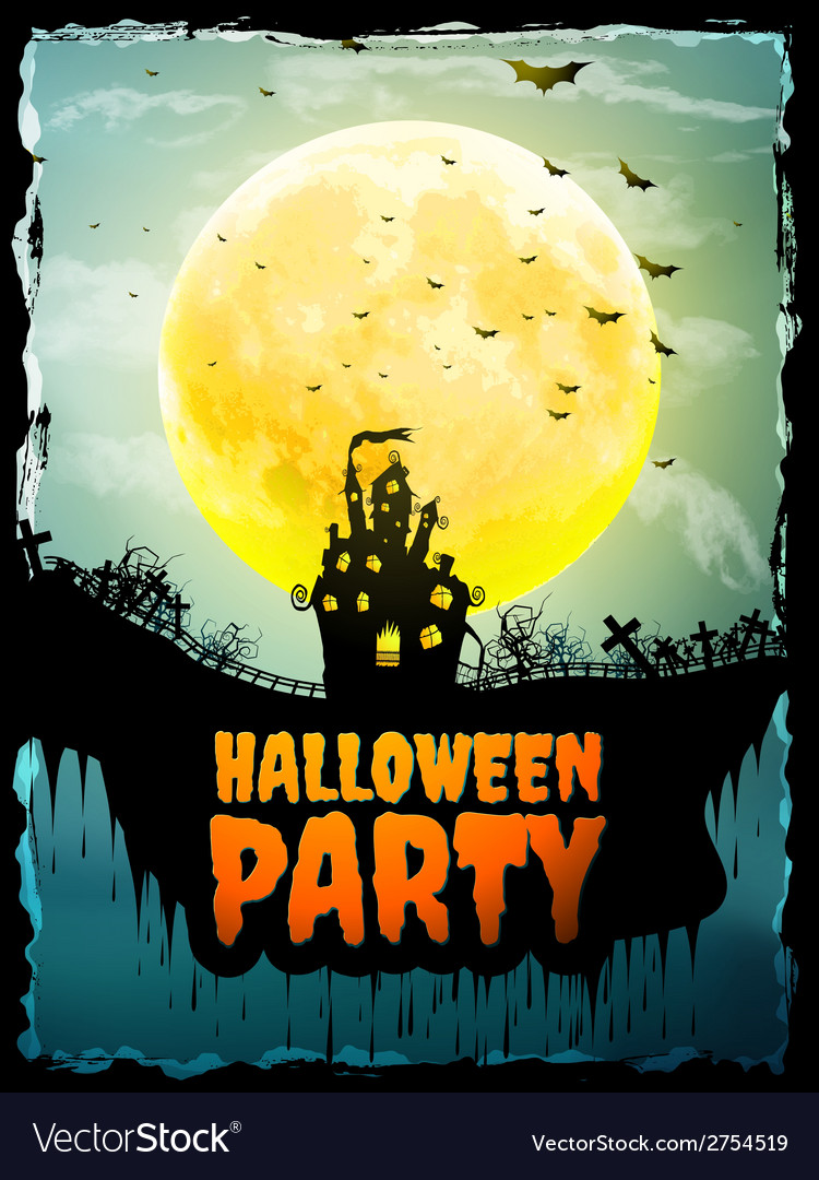 Happy halloween party poster eps 10