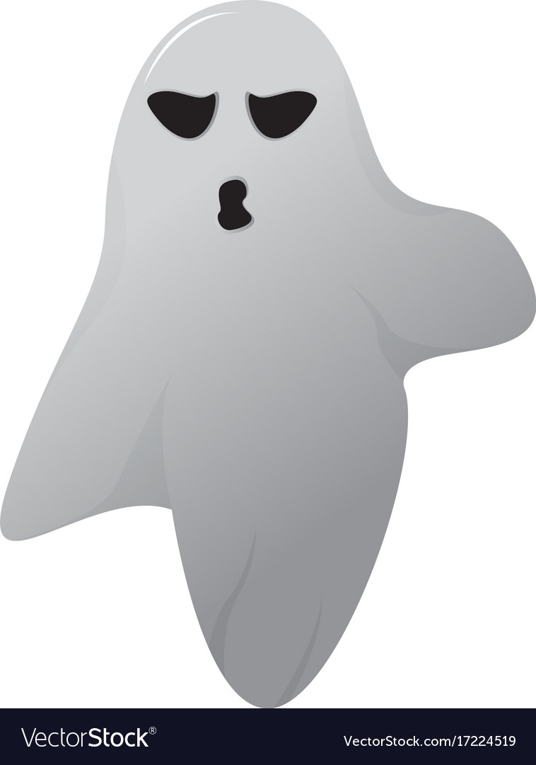 Isolated halloween ghost