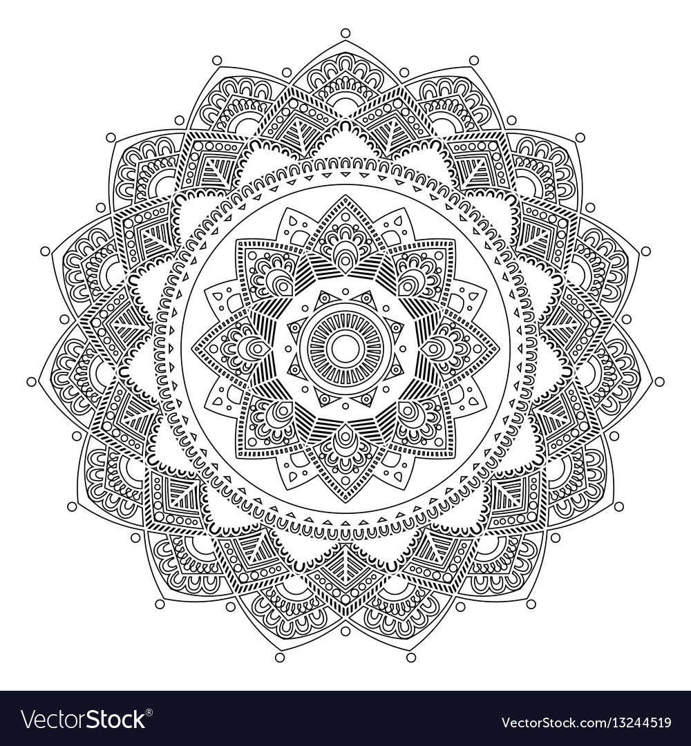 Mandala indian antistress medallion abstract