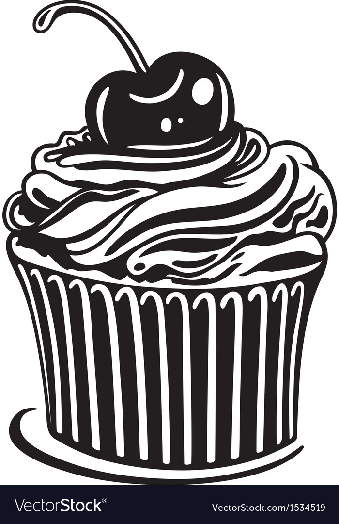 muffin cupcake royalty free vector image vectorstock rh vectorstock com cupcake factory cupcake victoria sponge