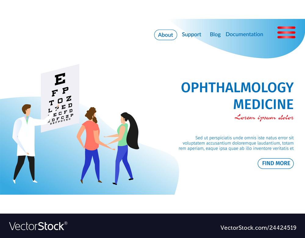 Ophthalmology medicine horizontal banner oculist