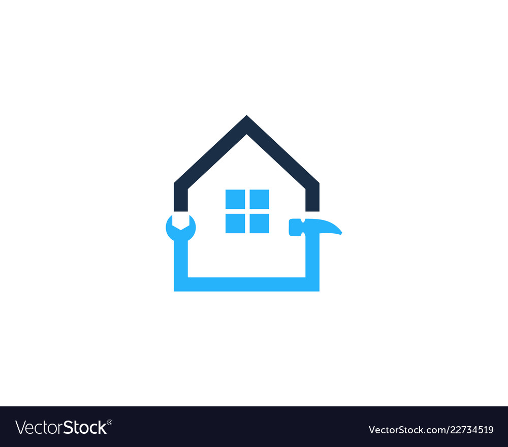 Repair house logo icon design