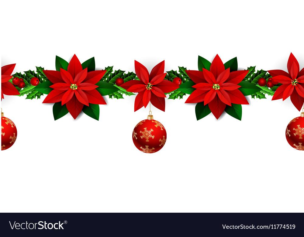 Christmas Boarders.Seamless Christmas Borders