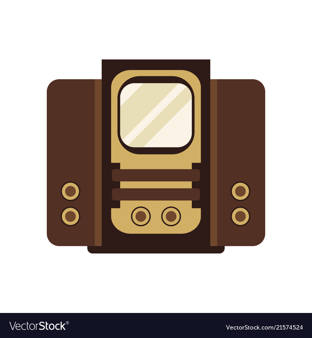 Ancient television receiver on