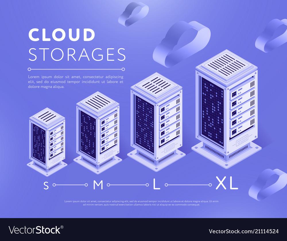 Arranged clouds storage server centers
