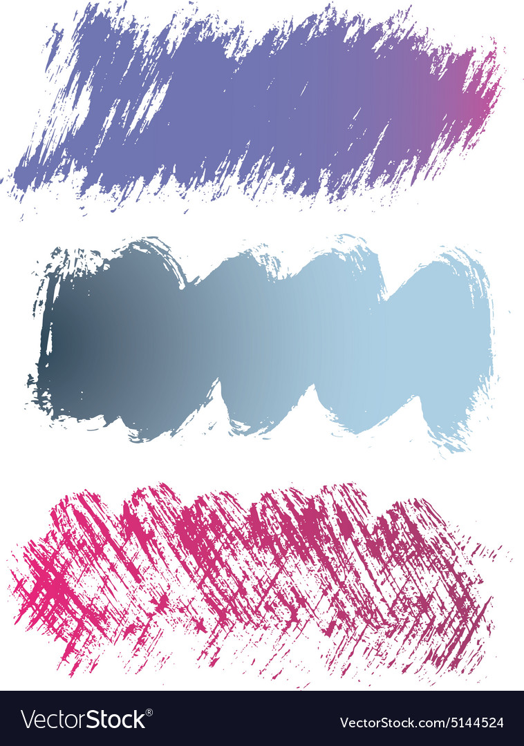 Colorful Grunge Banners vector image