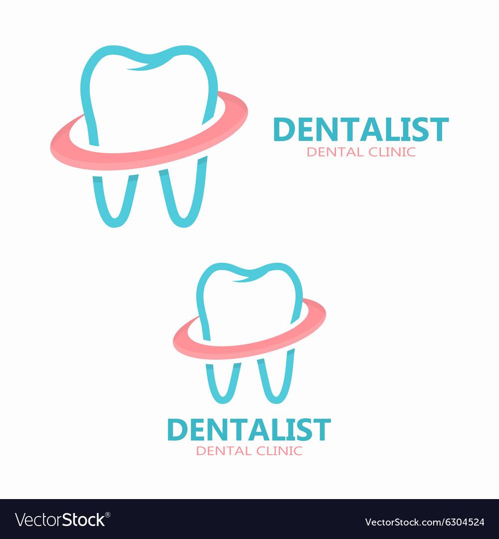 dental logo design dental clinic logo royalty free vector
