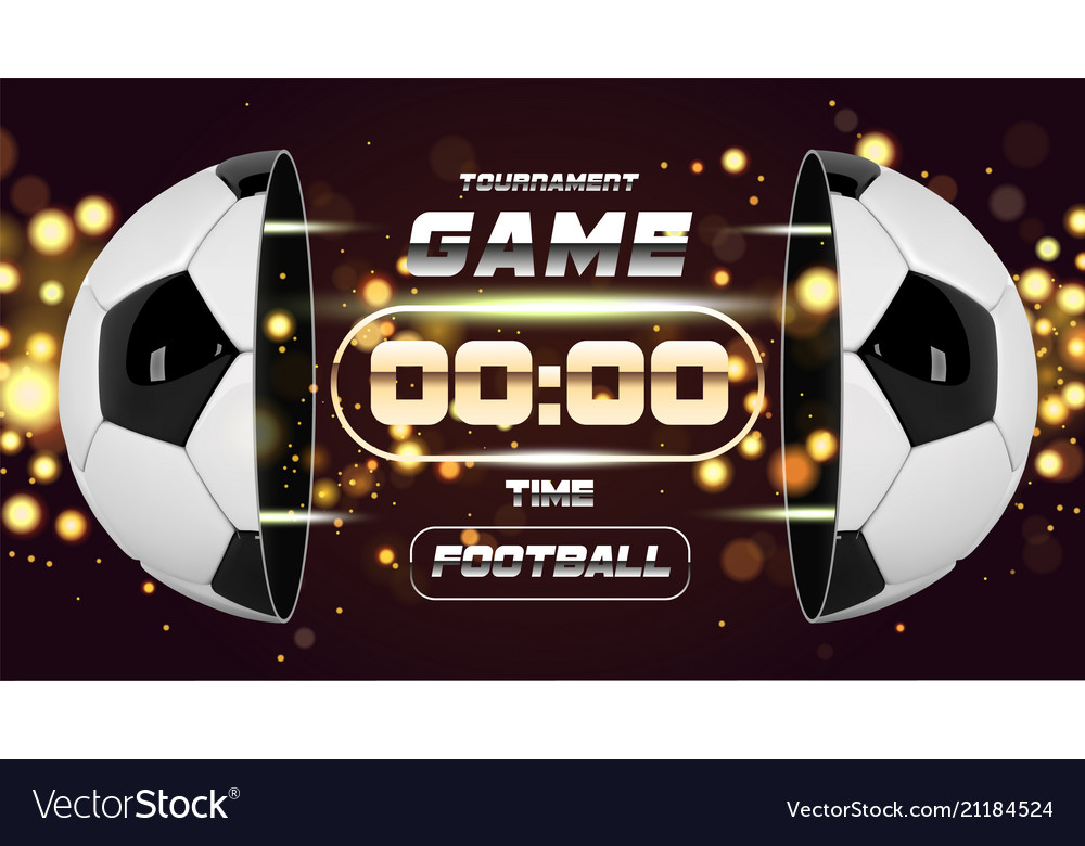 Football banner or flyer design with 3d ball