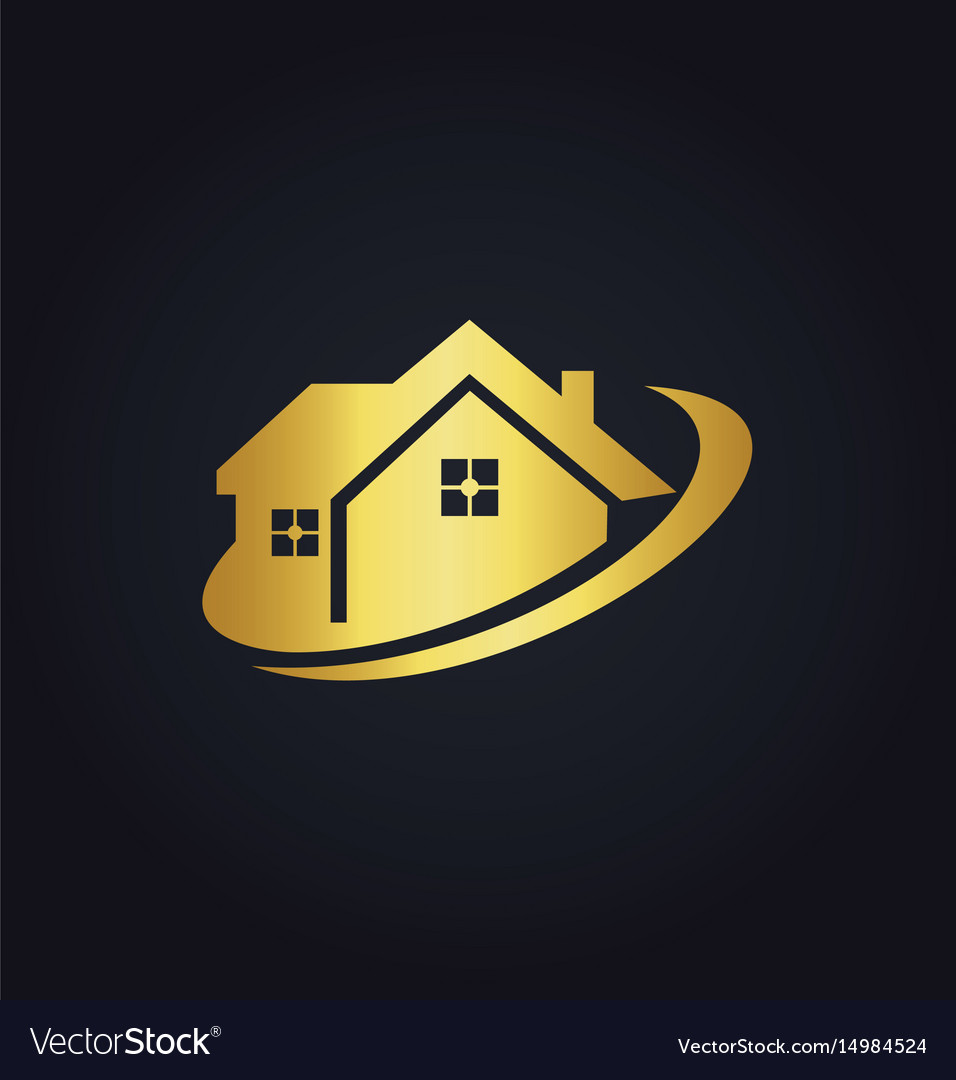 House business realty gold logo