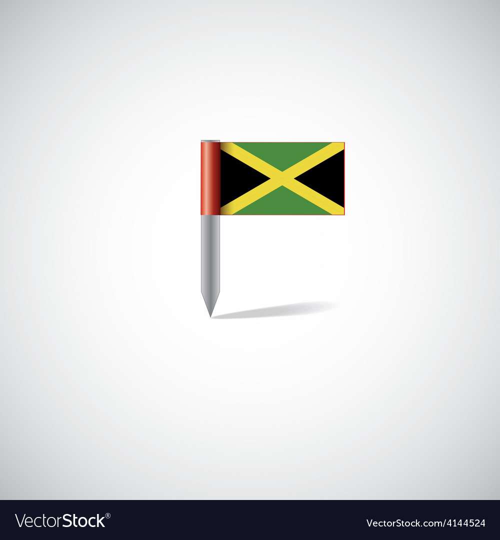 Jamaica flag pin