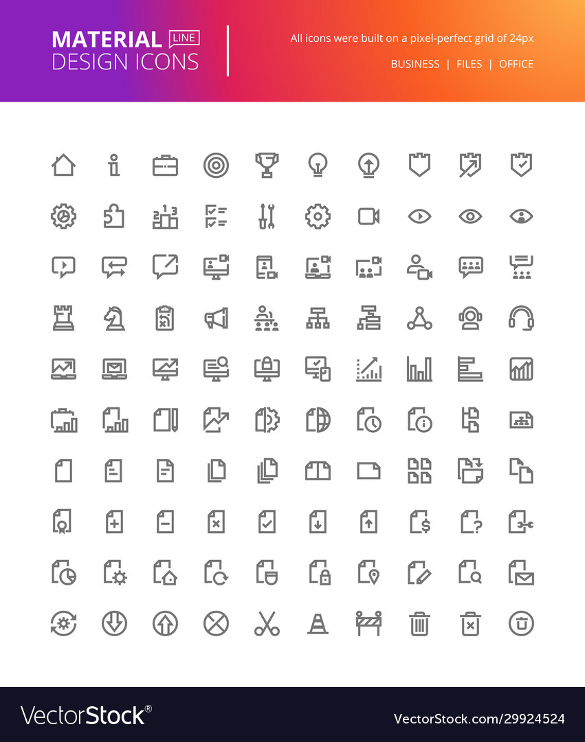 Material design icons set