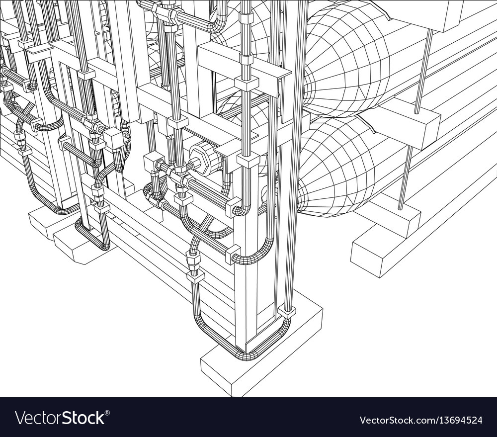 Outline oil and gas industrial equipment