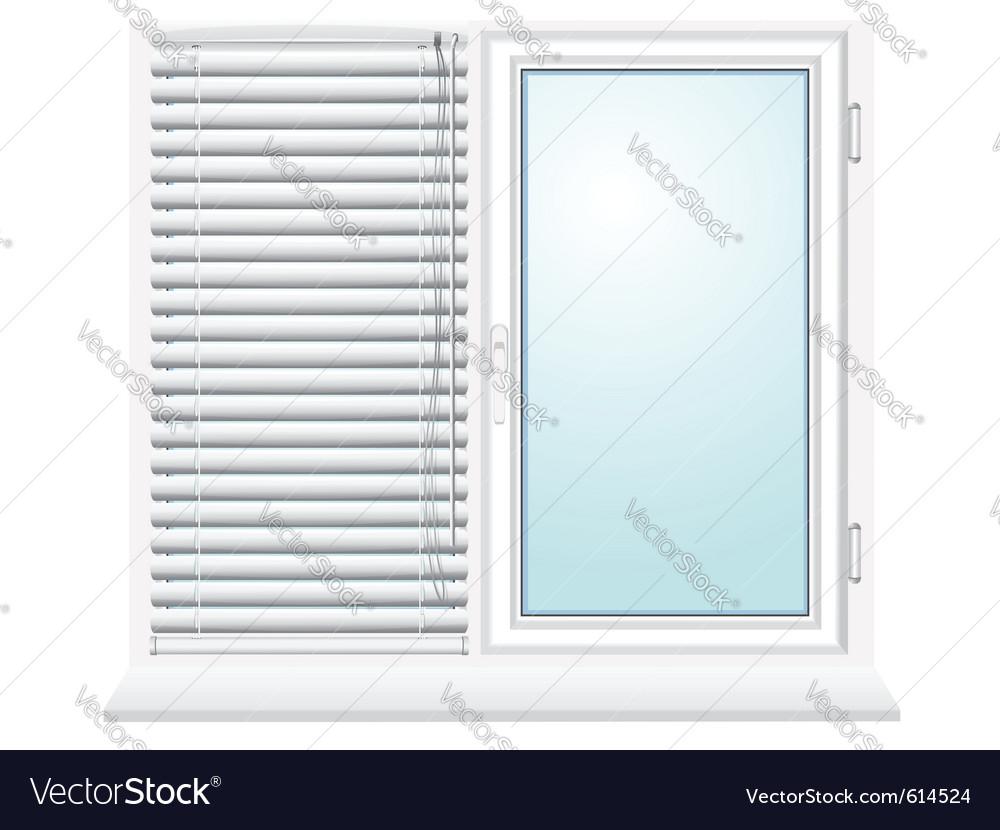 Plastic window with jalousies