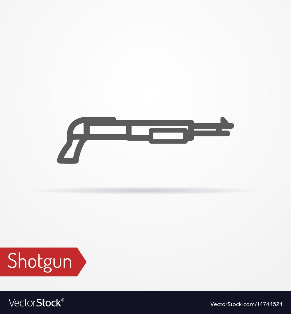 Shotgun silhouette icon
