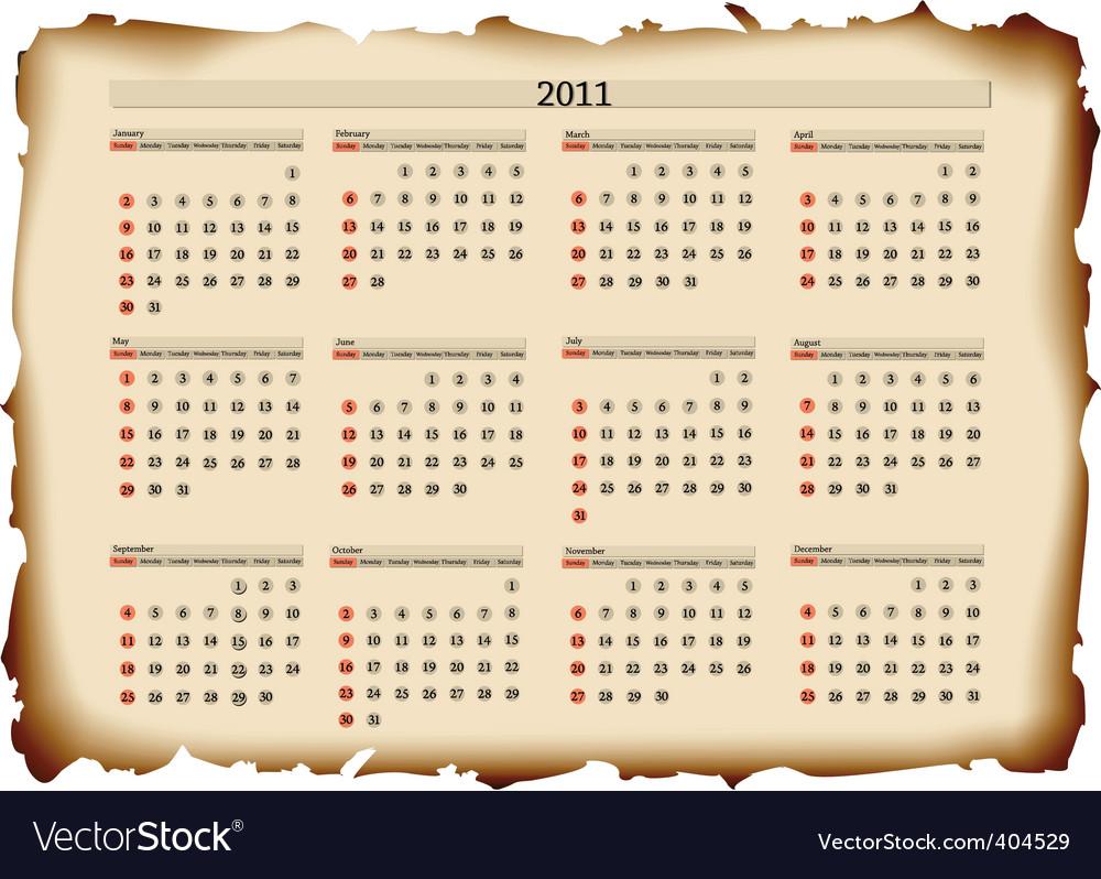 2011 calendar template. 2011 Calendar Template Vector