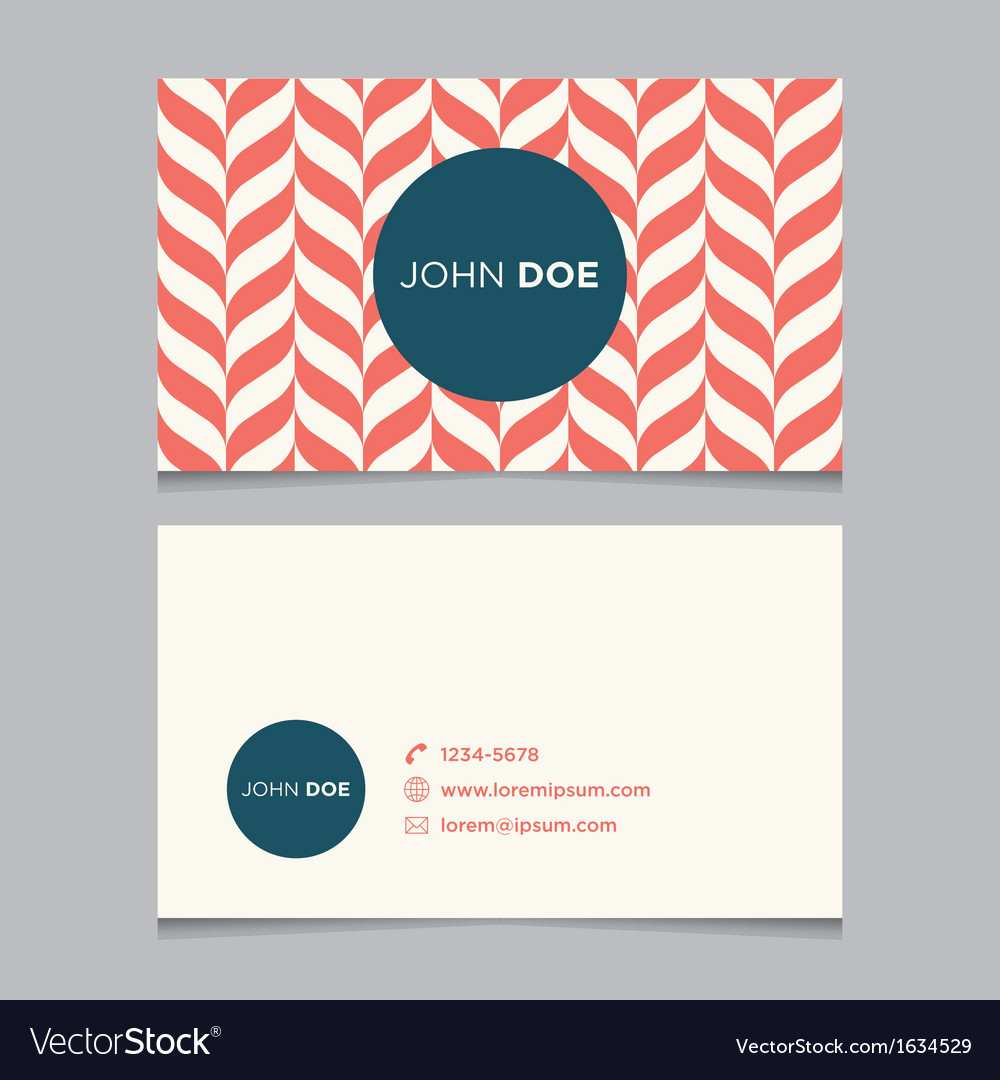 Business card pattern red 01