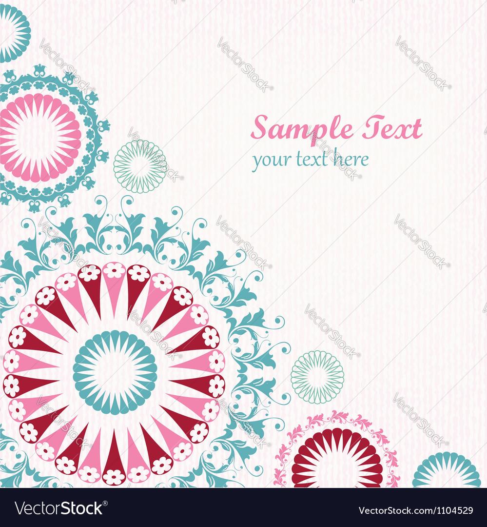 Floral decorative graphic background