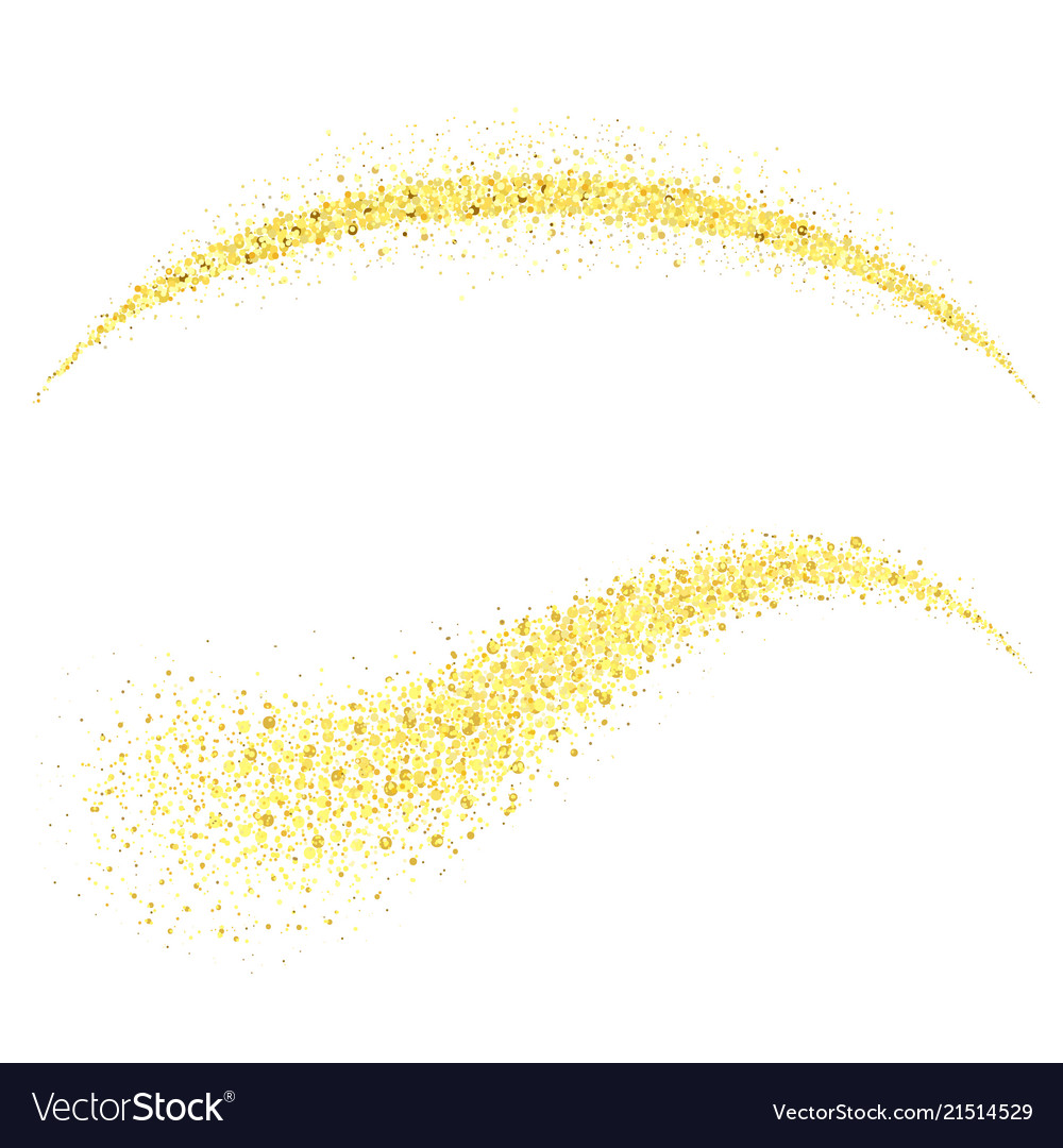 Golden stardust gold glitter wave glossy spray