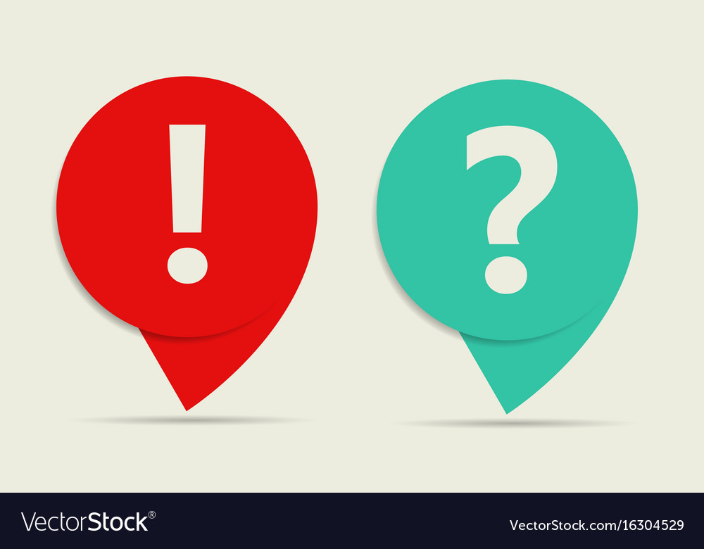 Icon sign and pictograph of question and