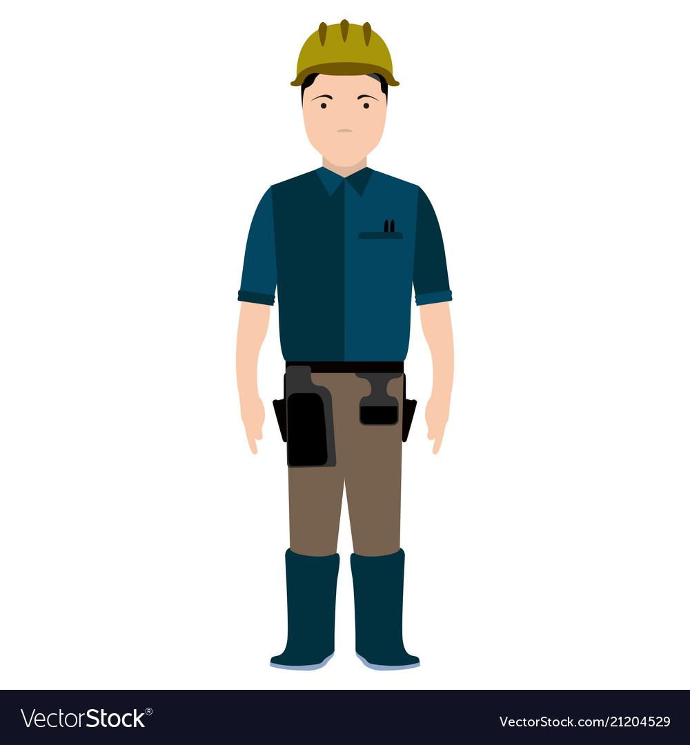 Isolated civil engineer avatar
