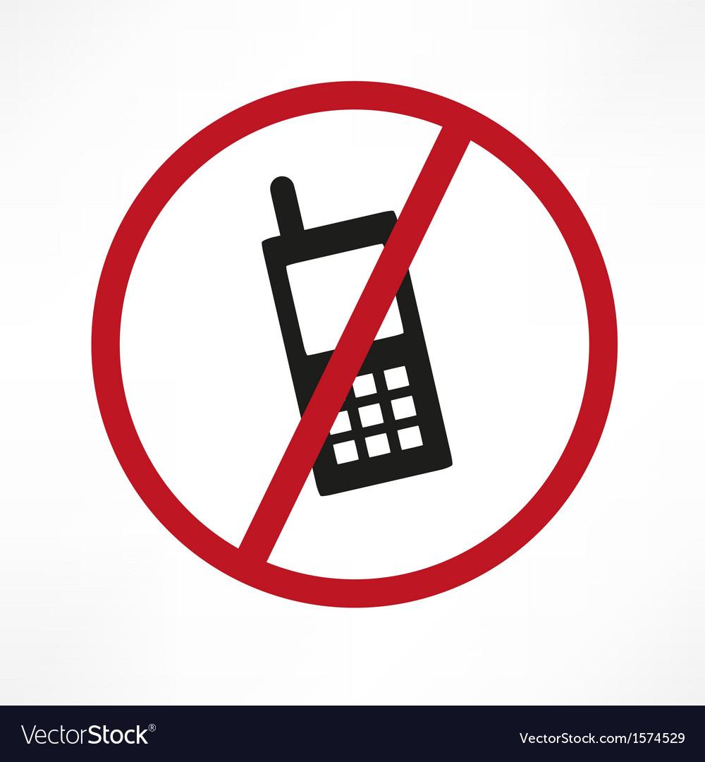 No Cellphone Sign Royalty Free Vector Image Vectorstock