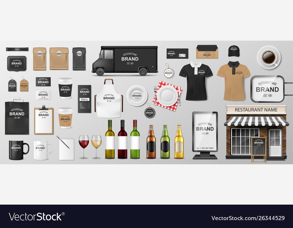 Restaurant corporate branding identity template