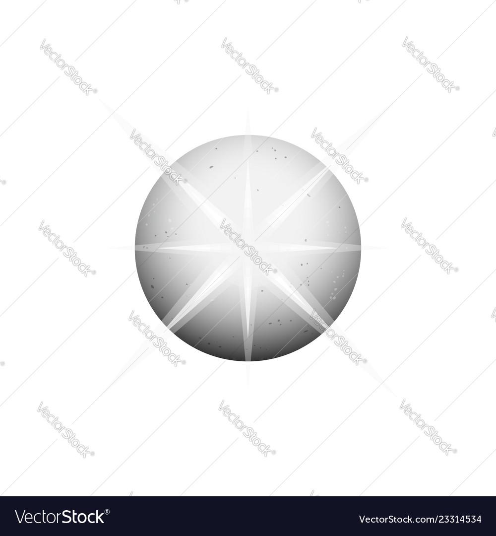 Circle planet shining gray ball logo template