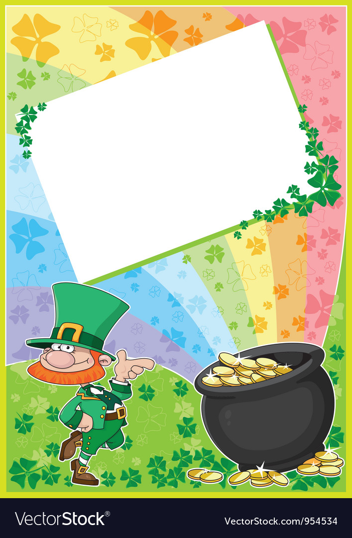 Rainbow clover card