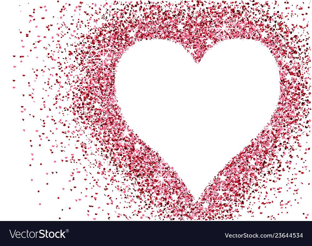 Red glitter heart valentine background