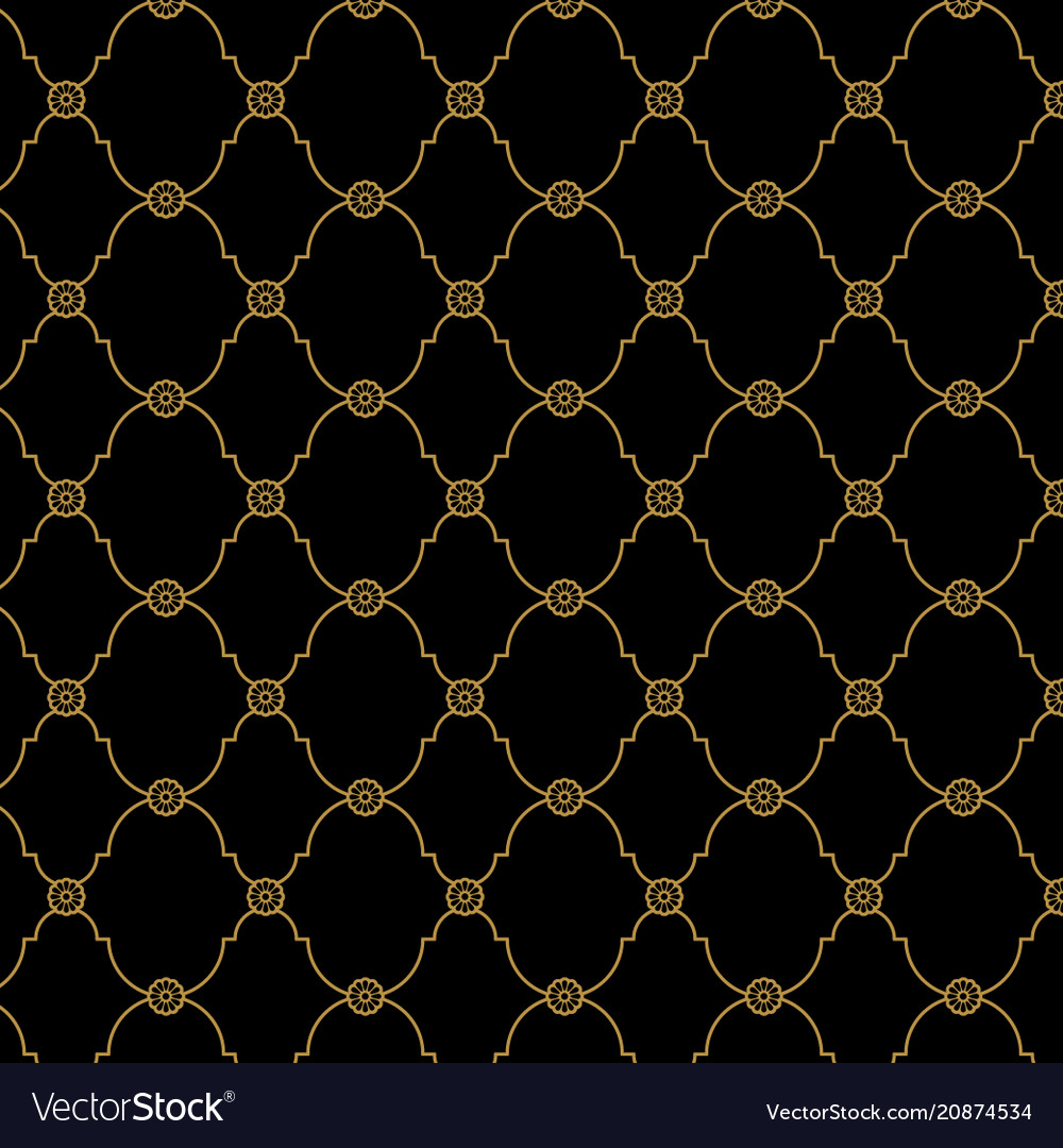 seamless black and gold background pattern vector 20874534