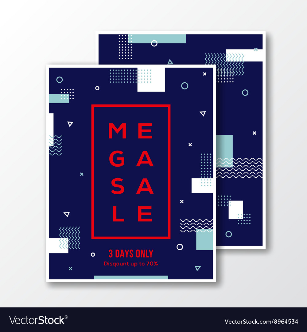 Season Mega Sale Poster Card or Flyer Template