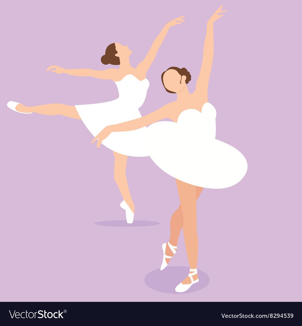 Ballerina girl ballet pose dance action perform vector image