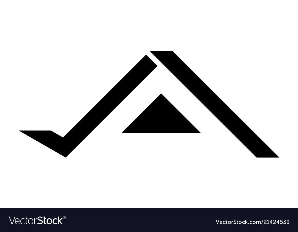 Black home logo design Royalty Free Vector Image