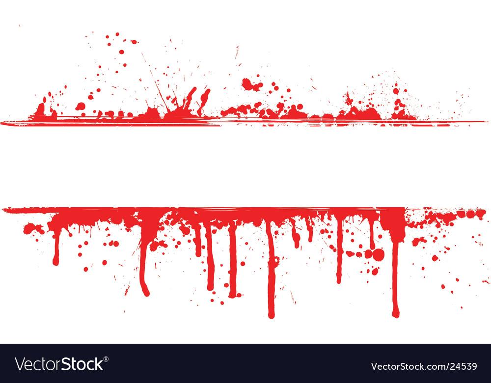 Blood splat border vector image