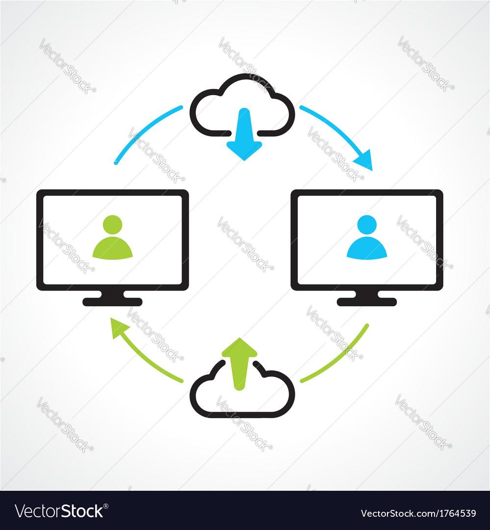 Cloud download compuert icons
