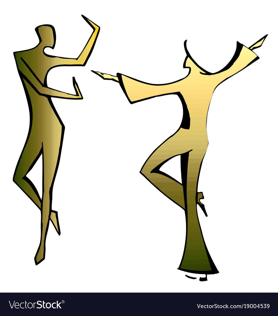 Dancing spanish couple