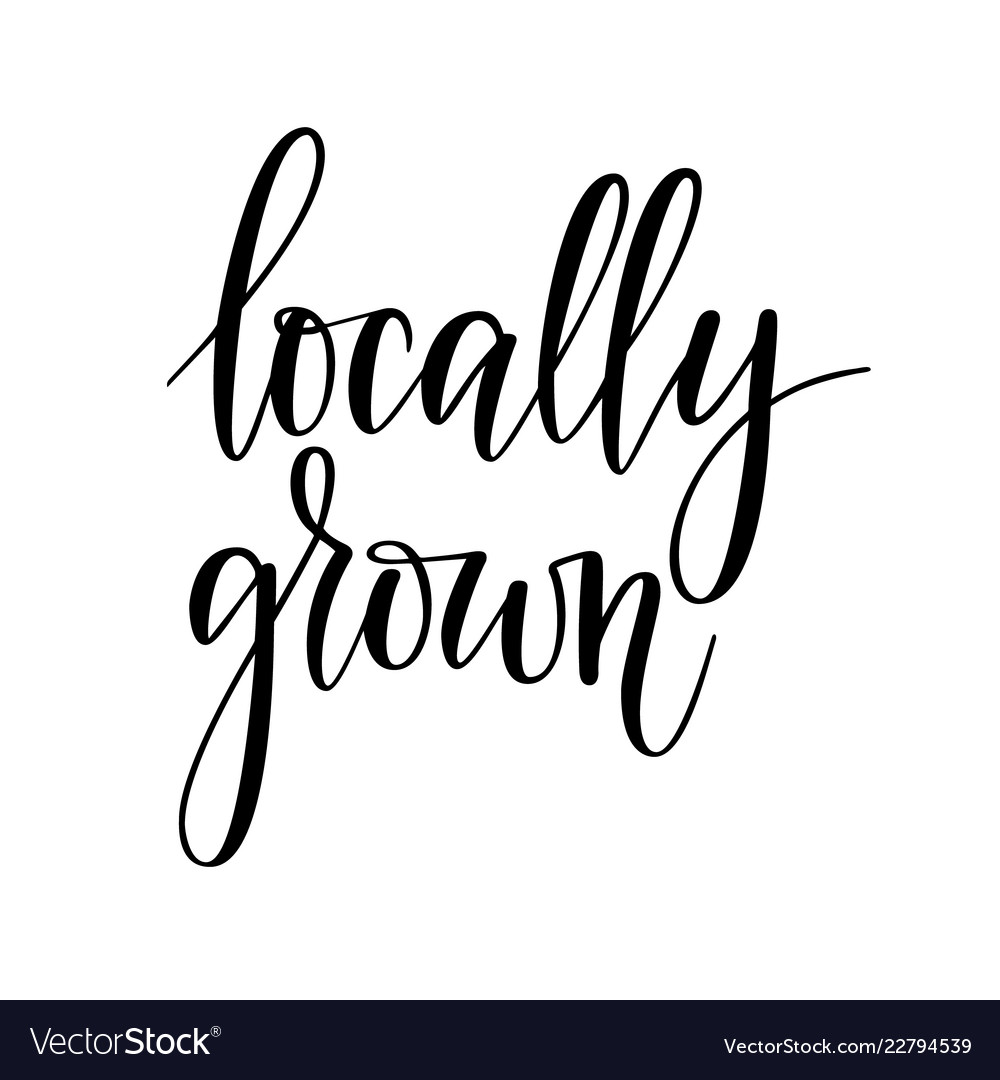 Locally grown lettering design for food