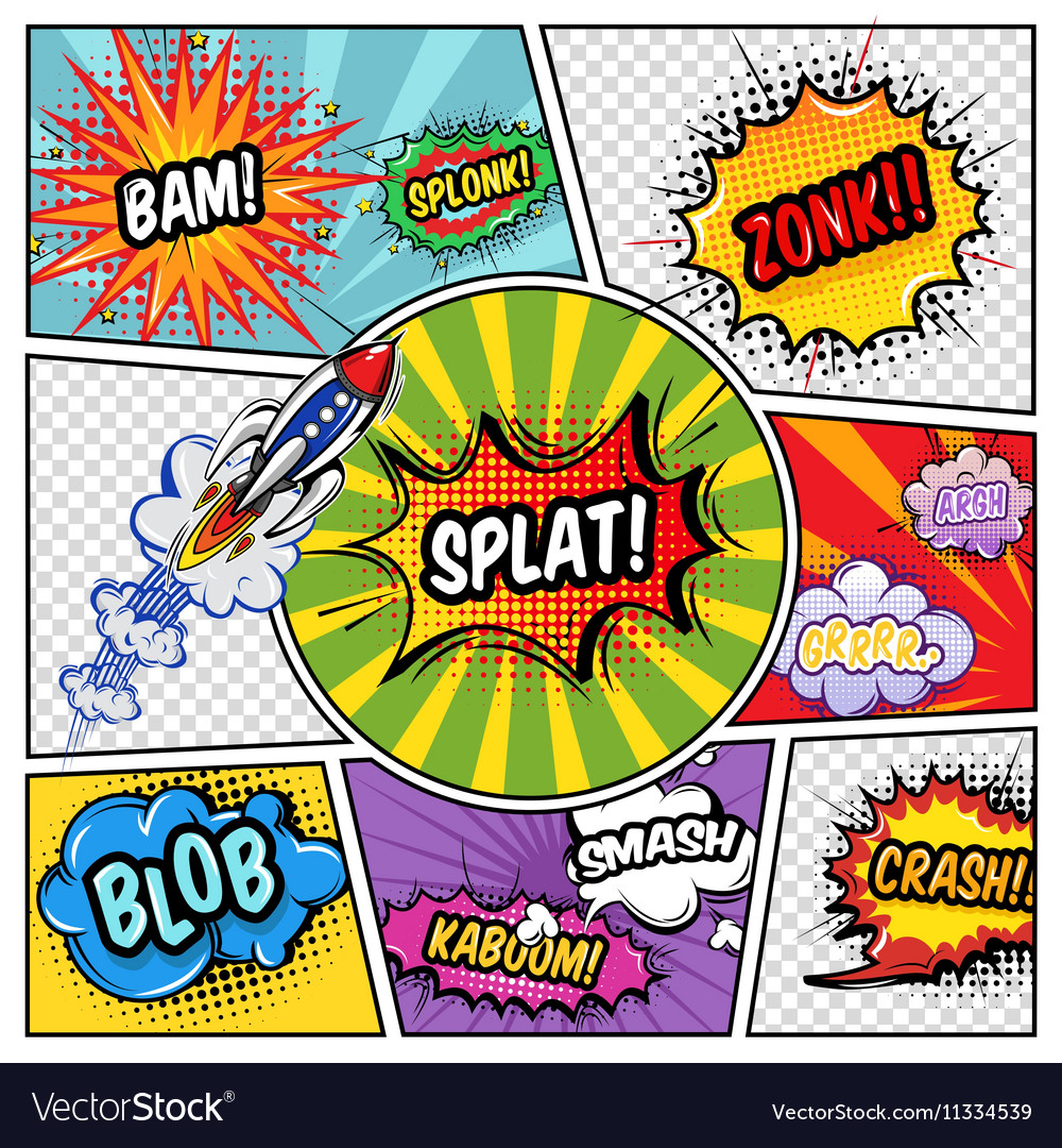 Sound Elements Comic Book vector image